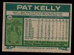 1977 Topps #469  Pat Kelly  Back Thumbnail