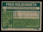 1977 Topps #466  Fred Holdsworth  Back Thumbnail