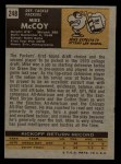 1971 Topps #248  Mike McCoy  Back Thumbnail