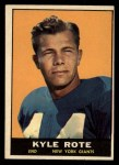 1961 Topps #87  Kyle Rote  Front Thumbnail
