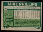 1977 Topps #352  Mike Phillips  Back Thumbnail