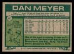 1977 Topps #527  Dan Meyer  Back Thumbnail