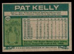 1977 Topps #469  Pat Kelly  Back Thumbnail
