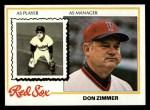 1978 Topps #63  Don Zimmer  Front Thumbnail