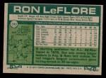 1977 Topps #240  Ron LeFlore  Back Thumbnail