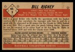 1953 Bowman B&W #3  Bill Rigney  Back Thumbnail