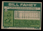 1977 Topps #511  Bill Fahey  Back Thumbnail