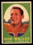 1958 Topps #72  Ron Waller  Front Thumbnail