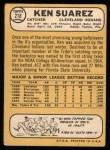 1968 Topps #218  Ken Suarez  Back Thumbnail