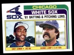 1982 Topps #216   -  Chet Lemon / Dennis Lamp White Sox Leaders Front Thumbnail