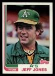 1982 Topps #139  Jeff Jones  Front Thumbnail