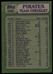 1982 Topps #696   -  Bill Madlock / Buddy Solomon Pirates Leaders Back Thumbnail