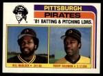 1982 Topps #696   -  Bill Madlock / Buddy Solomon Pirates Leaders Front Thumbnail