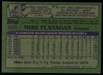 1982 Topps #520  Mike Flanagan  Back Thumbnail
