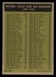 1961 Topps #43   -  Hank Aaron / Ernie Banks / Ken Boyer / Eddie Mathews NL HR Leaders Back Thumbnail