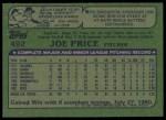 1982 Topps #492  Joe Price  Back Thumbnail