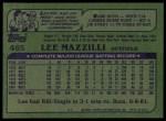 1982 Topps #465  Lee Mazzilli  Back Thumbnail