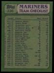 1982 Topps #336   -  Glenn Abbott / Tom Paciorek Mariners Leaders  Back Thumbnail