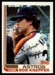 1982 Topps #672  Bob Knepper  Front Thumbnail