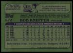 1982 Topps #672  Bob Knepper  Back Thumbnail