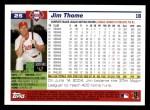 2005 Topps #25  Jim Thome  Back Thumbnail