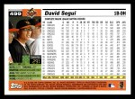 2005 Topps #499  David Segui  Back Thumbnail