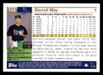 2005 Topps #113  Darrell May  Back Thumbnail