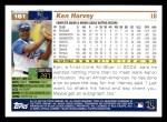 2005 Topps #161  Ken Harvey  Back Thumbnail