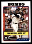 2005 Topps #716   -  Barry Bonds Most Valuable Player Front Thumbnail