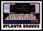 2005 Topps #640   Atlanta Braves Team Front Thumbnail