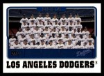 2005 Topps #652   Los Angeles Dodgers Team Front Thumbnail