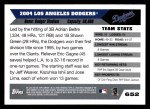 2005 Topps #652   Los Angeles Dodgers Team Back Thumbnail