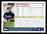 2005 Topps #236  John Thomson  Back Thumbnail