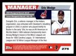 2005 Topps #275  Eric Wedge  Back Thumbnail