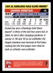 2005 Topps #697   -  Darin Erstad Golden Glove Back Thumbnail