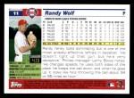 2005 Topps #11  Randy Wolf  Back Thumbnail