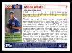 2005 Topps #304  Chadd Blasko  Back Thumbnail
