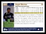 2005 Topps #251  Angel Berroa  Back Thumbnail