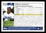 2005 Topps #603  Edwin Jackson  Back Thumbnail