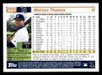 2005 Topps #507  Marcus Thames  Back Thumbnail