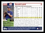 2005 Topps #260  Gerald Laird  Back Thumbnail