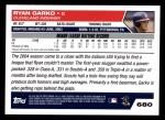 2005 Topps #680  Ryan Garko  Back Thumbnail