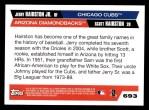 2005 Topps #693  Jerry Hairston Jr. / Scott Hairston  Back Thumbnail
