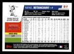 2006 Topps #91  Rafael Betancourt  Back Thumbnail