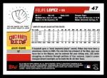 2006 Topps #47  Felipe Lopez  Back Thumbnail