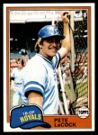 1981 Topps #9  Pete LaCock  Front Thumbnail