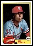 1981 Topps #140  Bob Forsch  Front Thumbnail