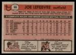 1981 Topps #88  Joe LeFebvre  Back Thumbnail