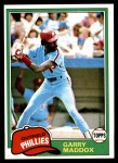 1981 Topps #160  Garry Maddox  Front Thumbnail