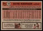 1981 Topps #186  Wayne Nordhagen  Back Thumbnail